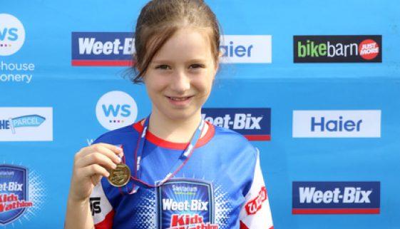 Weetbix triathlon medal
